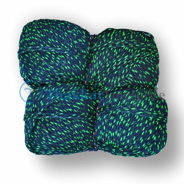 Blue Waste Cotton Rope – 3 mm to 4 mm Bawl Packing