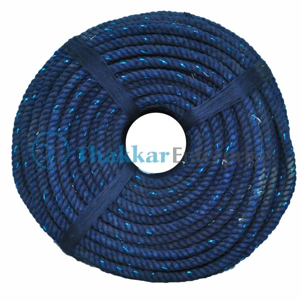 Blue Waste Cotton Rope – 6 mm to 40 mm Coil Packing