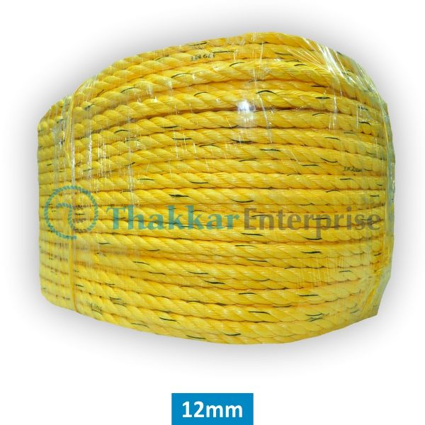 P.P. Rope Yellow A Quality – 2 mm to 40 mm 220-meter Coil