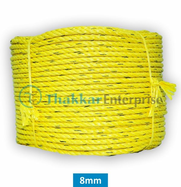 Rope Yellow B Quality – 2 mm to 40 mm 220 Meter Coil