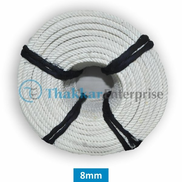 White Polyester Rope – 6 mm to 25 mm Rope Coil Packing (1)
