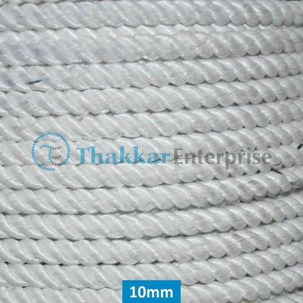 White Polyester Rope – 6 mm to 25 mm Rope Coil Packing
